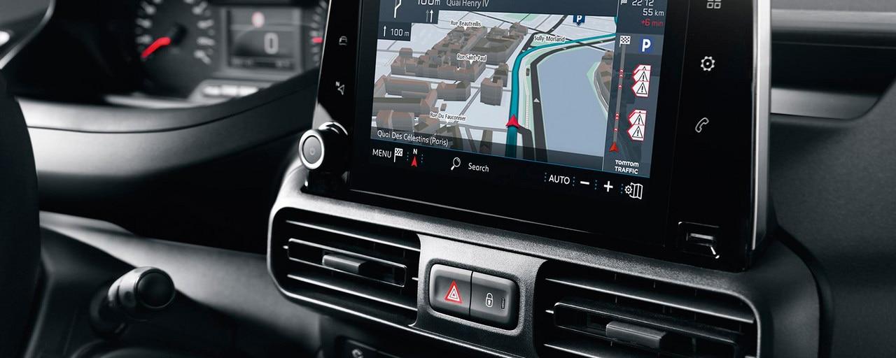 """PEUGEOT PARTNER navigation 3D connectée technologie Mirror Screen écran tactile 8"""""""