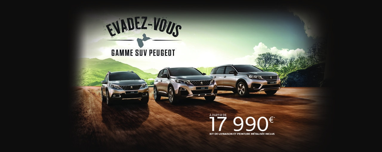 Gamme Peugeot SUV