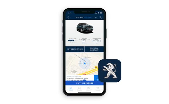 SUV PEUGEOT 5008, application MyPeugeot®