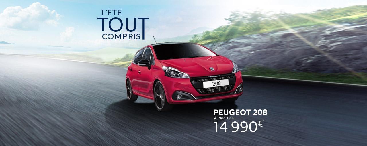 L'été tout compris Peugeot 208