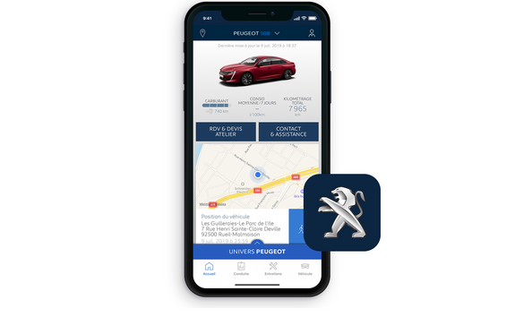 PEUGEOT 508 : application gratuite MyPeugeot®
