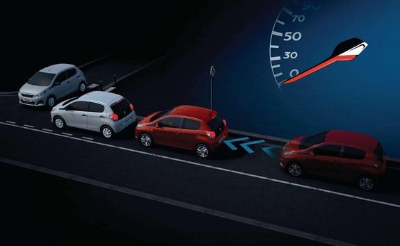 Peugeot 108 système Active City Brake